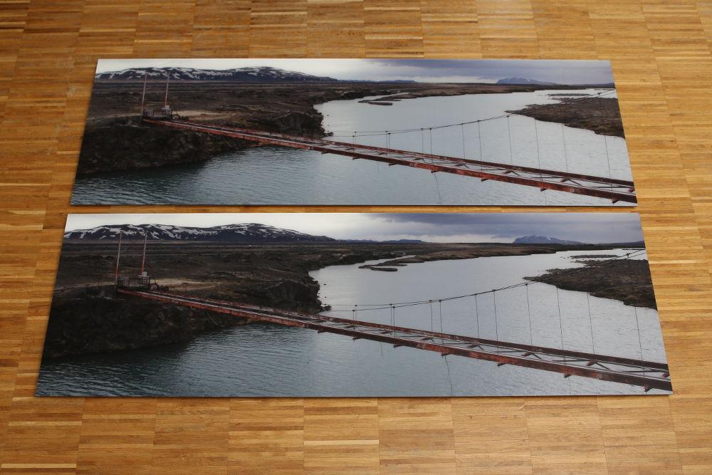 Iceland Bridge - Wall Panel Comparsion